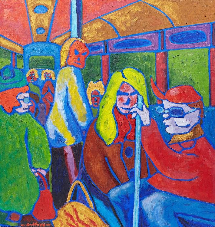 Artwork by John Godfrey,  Streetcar