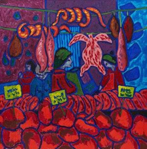Artwork by John Godfrey, The Market
