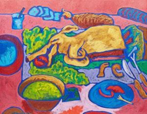 Artwork by John Godfrey, Dinner