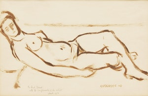 Artwork by Stanley Morel Cosgrove, Reclining Nude