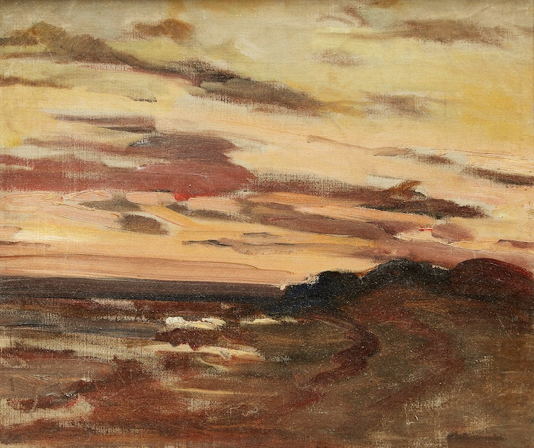 Artwork by Laura Adeline Lyall Muntz,  Coastal Scene, Sunset, 1921