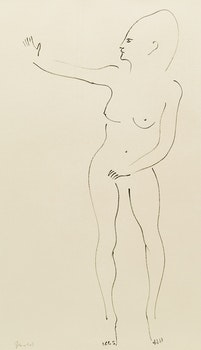 Artwork by Jack Nichols, Nude Study