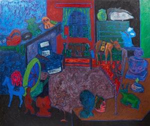 Artwork by John Godfrey, Eclectic Interior