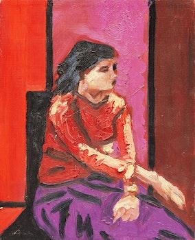 Artwork by John Godfrey, Seated Girl
