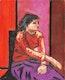 Thumbnail of Artwork by John Godfrey,  Seated Girl