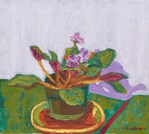 Artwork by John Godfrey, African Violet