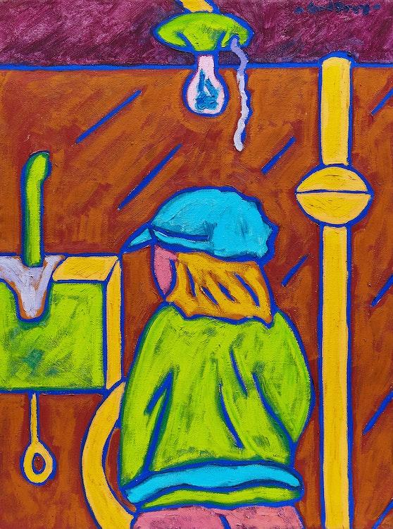 Artwork by John Godfrey,  Standing Figure