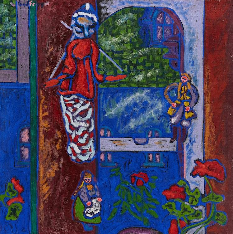 Artwork by John Godfrey,  John's Studio Window, Queen St.