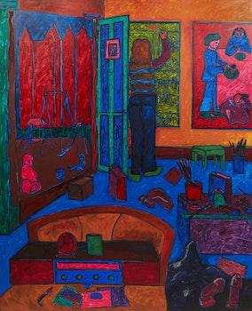 Artwork by John Godfrey, Studio Interior