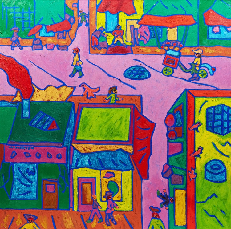 Artwork by John Godfrey,  Kensington Market