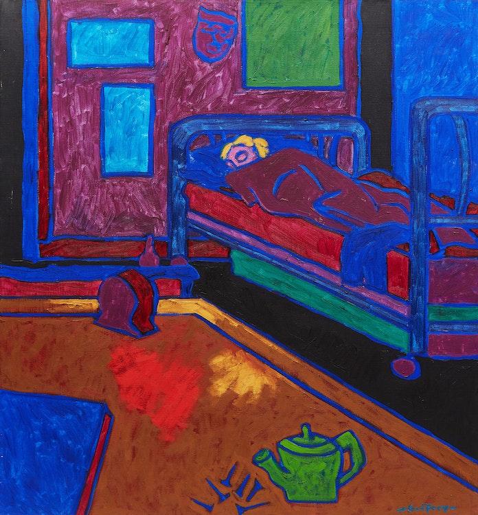Artwork by John Godfrey,  Aileen Asleep