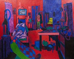 Artwork by John Godfrey, Aileen's Room, Nov. 1973