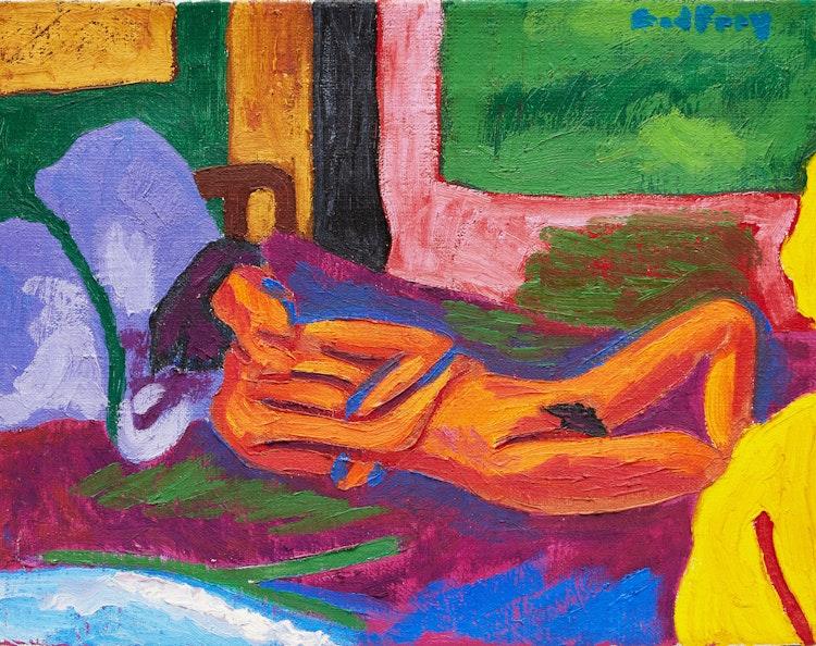 Artwork by John Godfrey,  Reclining Nude