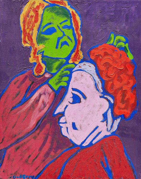 Artwork by John Godfrey,  Two Women