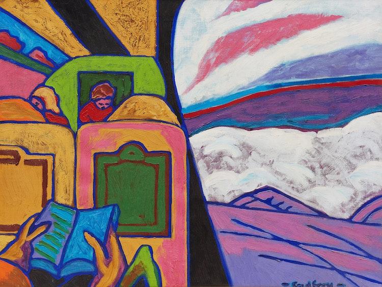 Artwork by John Godfrey,  On Route to Paris