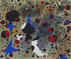 Artwork by Joan Miro, Le Chant du Rossignol à minuit et al pluie matinale