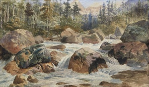 Artwork by Frederic Marlett Bell-Smith, Near Great Glacier, Selkirks, 1889