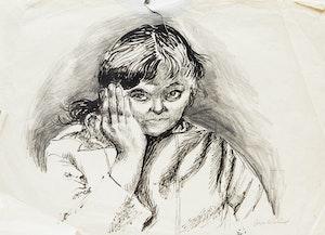 Artwork by Joyce Wieland, Self Portrait