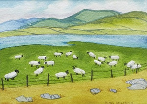 Artwork by Doris Jean McCarthy, Connamara Flock