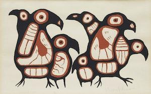 Artwork by Norval Morrisseau, Gathering Loons