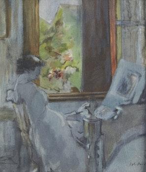 Artwork by Edouard Vuillard, Seated Woman