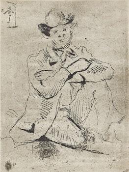 Artwork by Paul Cezanne, Guillaumin au Pendu