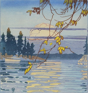 Artwork by Walter Joseph Phillips, The Golden Hour