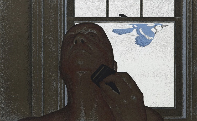 Artwork by David Alexander Colville,  Artist and Blue Jay