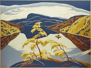Artwork by Yvonne McKague Housser, Evening, Nipigon River