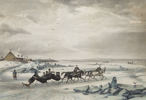 Artwork by Cornelius Krieghoff, Sledge Race Near Montreal