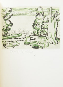 Artwork by David Brown Milne, Painting Place (Hilltop) within the Colophon