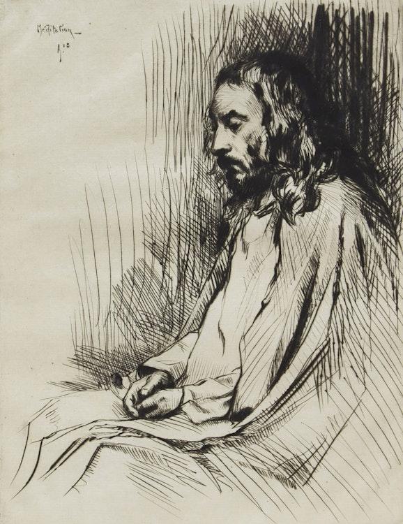 Artwork by Frank Milton Armington,  Meditation