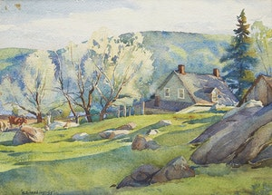 Artwork by Henry John Simpkins, Summer Landscape with House