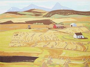 Artwork by Alexander Young Jackson, Alberta Farm