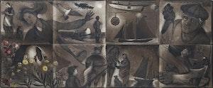 Artwork by David Lloyd Blackwood, Folded Studies