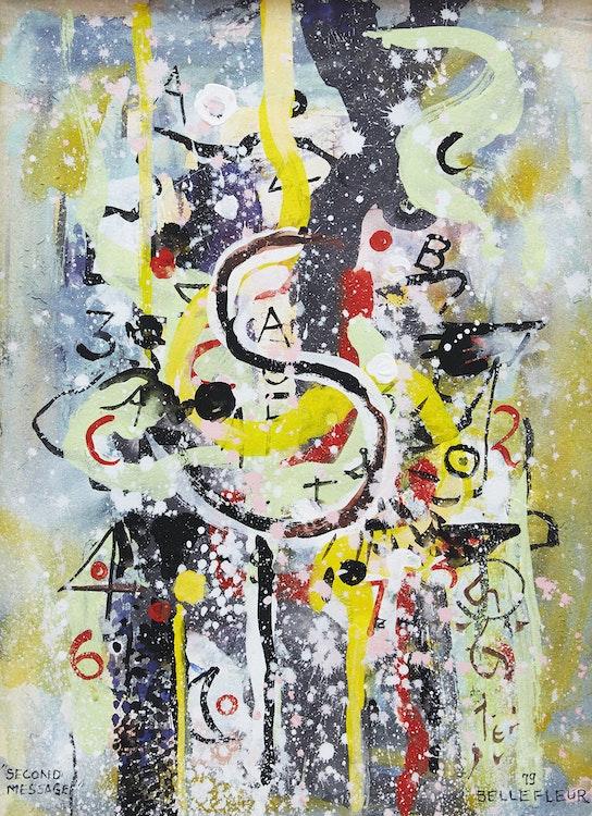 Artwork by Léon Bellefleur,  Second Message