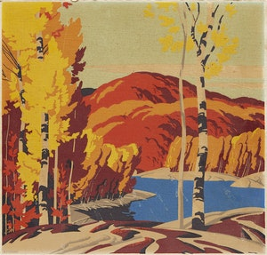 Artwork by Alfred Joseph Casson, Autumn Landscape