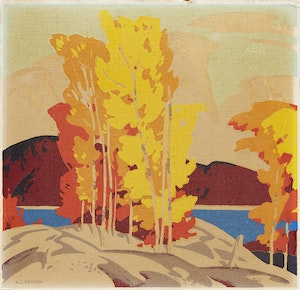 Artwork by Alfred Joseph Casson, Autumn Afternoon