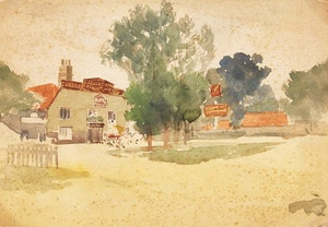 Artwork by Frederic Marlett Bell-Smith, Village Scene