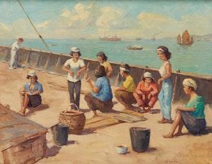 Artwork by Evert Jan Ligtelijn, Port Swatteham (Swettenham)