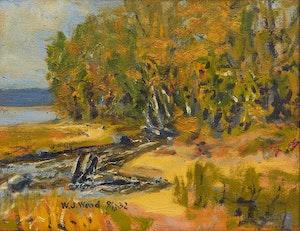 Artwork by William John Wood, Shoreline Landscape