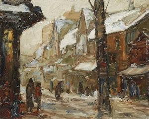 Artwork by Donald Besco, Breadalbane St., Kensington Market (Winter)