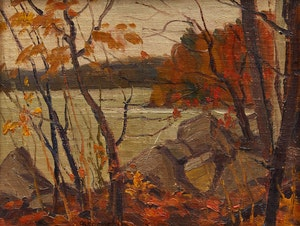Artwork by Adolphus George Broomfield, Fall Rain
