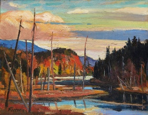 Artwork by Marcel Fecteau, Lost River, P.Q.
