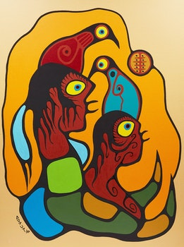 Artwork by Richard Bedwash, Portrait of the Artist with Spirit Son