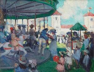 Artwork by Frederick Kitson Cowley, A Day at the Fair