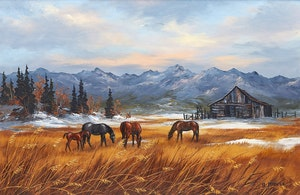 Artwork by Georgia Jarvis, A Foothills Scene