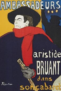 Artwork by Henri de Toulouse- Lautrec, Aristide Bruant dans son cabaret; Henri Toulouse Lautrec Les Affiches de Toulouse-Lautrec