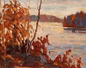Artwork by Gaston Rebry, Lac des Iles, l'automne