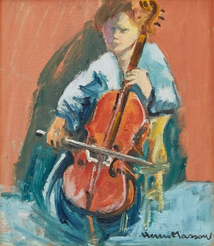 Artwork by Henri Leopold Masson, Young Musician